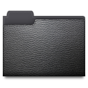Leather folder icon